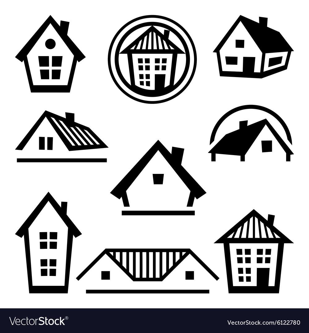 House logo templates Set of real estate design vector image