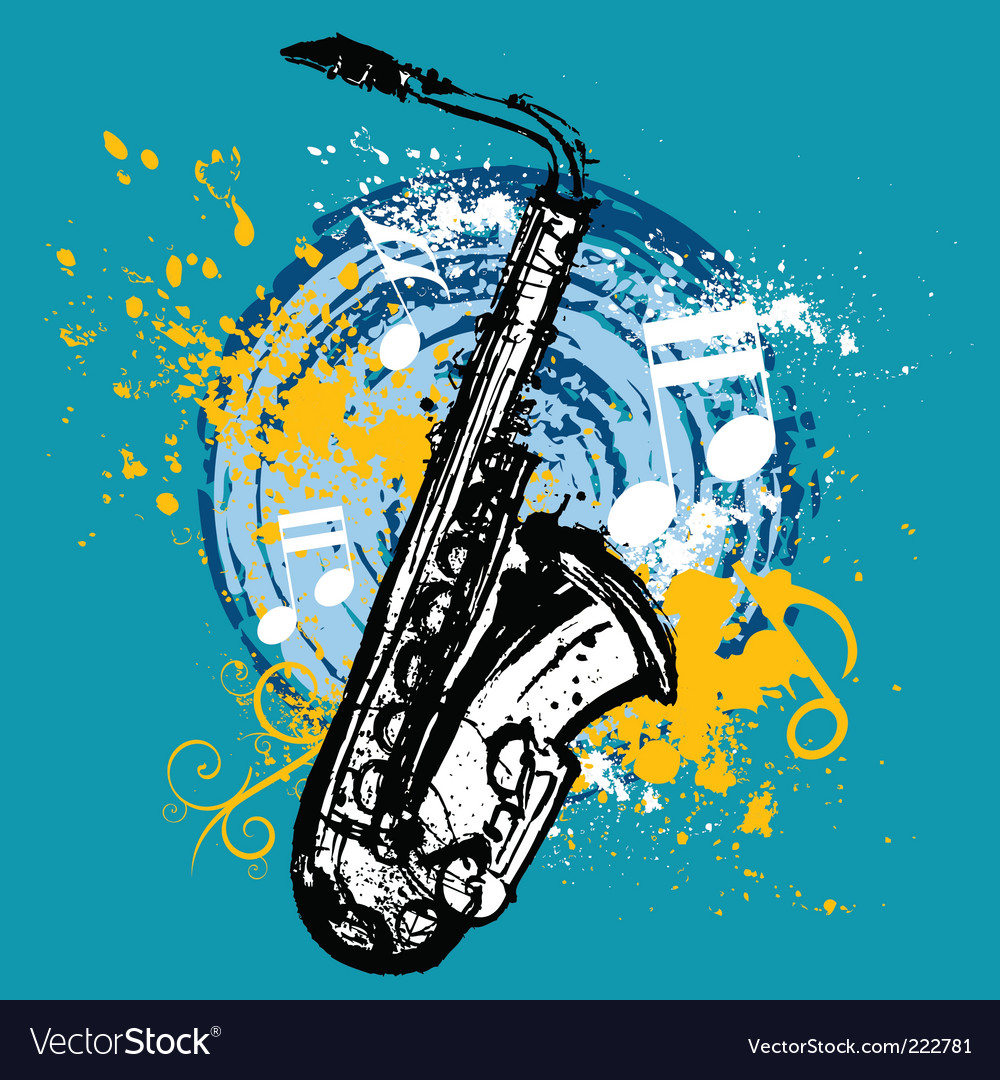 Saxophone design vector image