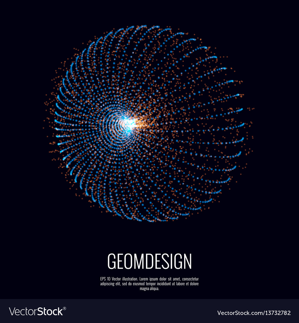3d abstract shape vector image