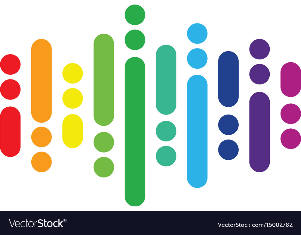 Abstract audio equalizer colored logo image vector image