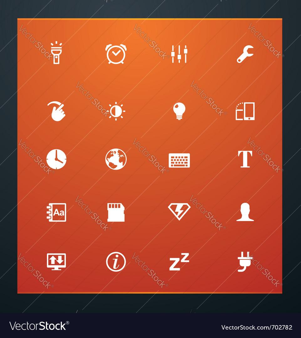 Universal glyphs 14 phone symbols 3 vector image
