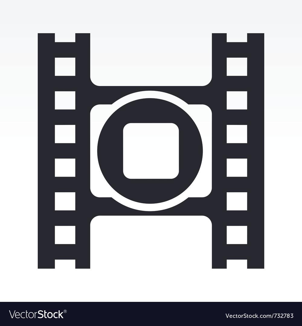 Stop video icon vector image