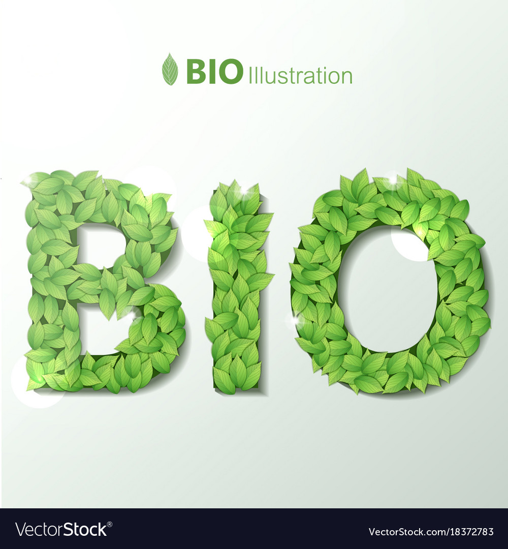 Bio with green leaves font royalty free vector image bio with green leaves font vector image biocorpaavc Gallery
