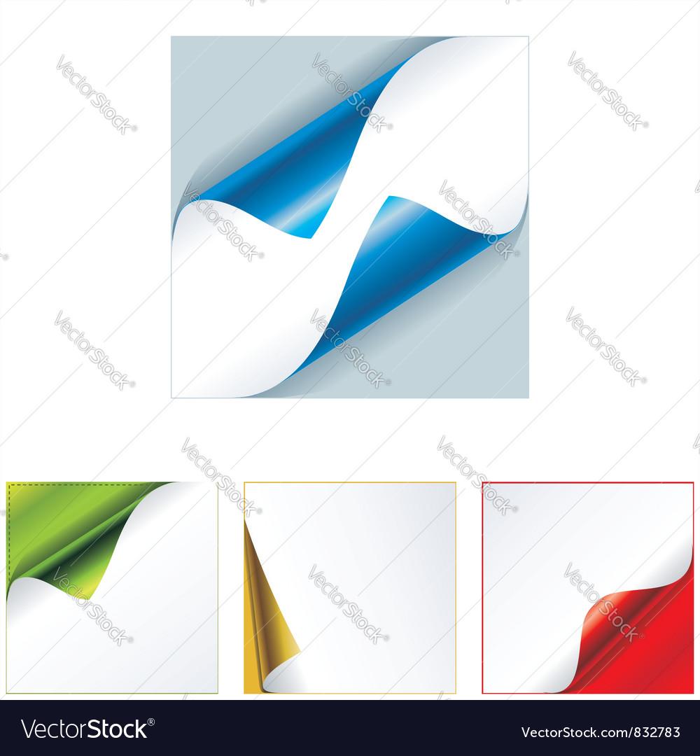 Multi-colored realistic stickers vector image