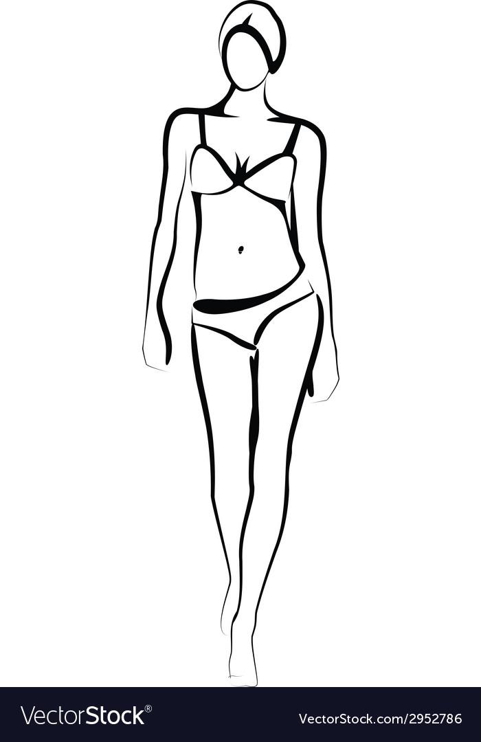 Female model vector image