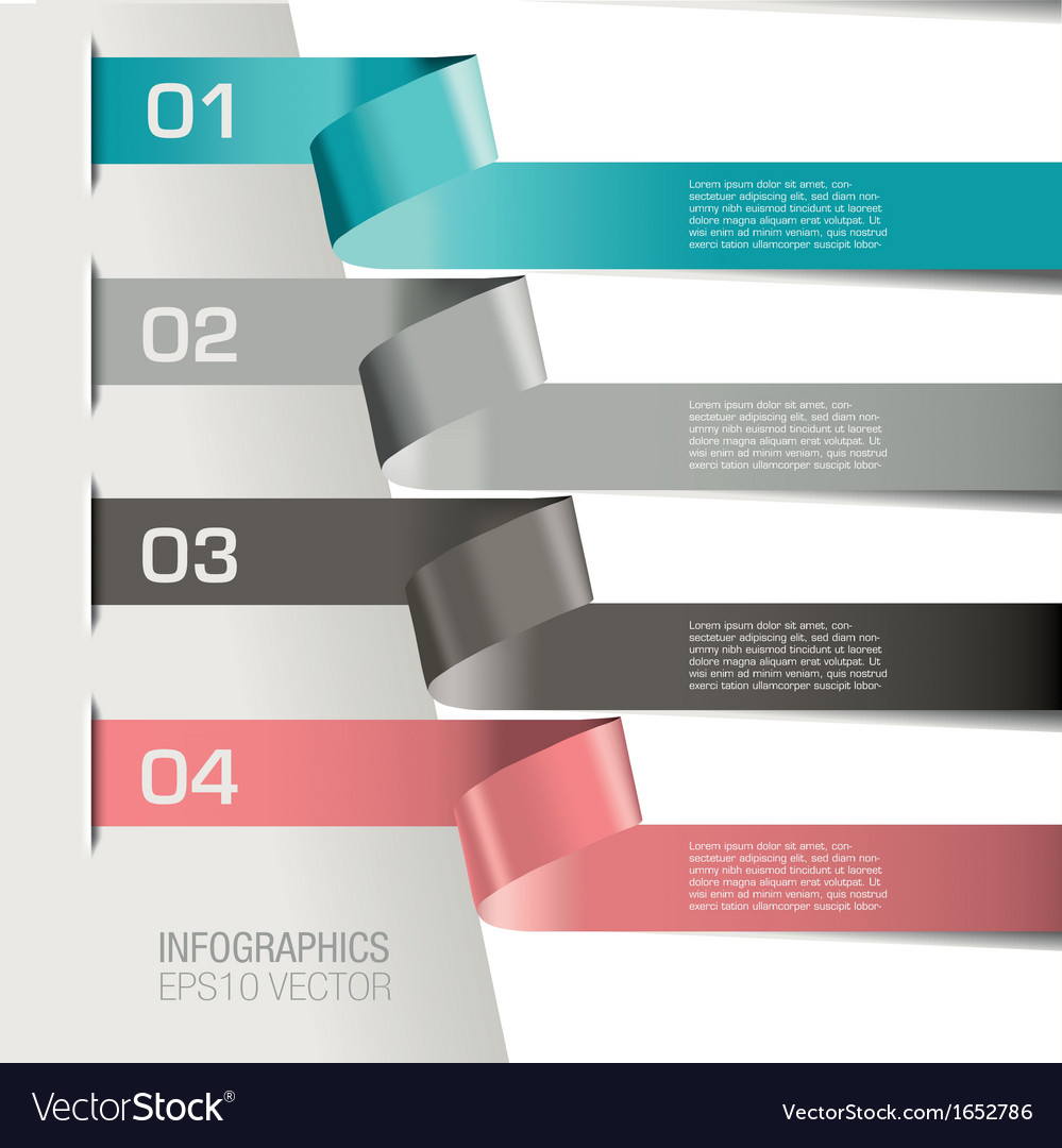 Paper Spirial infographic Two vector image