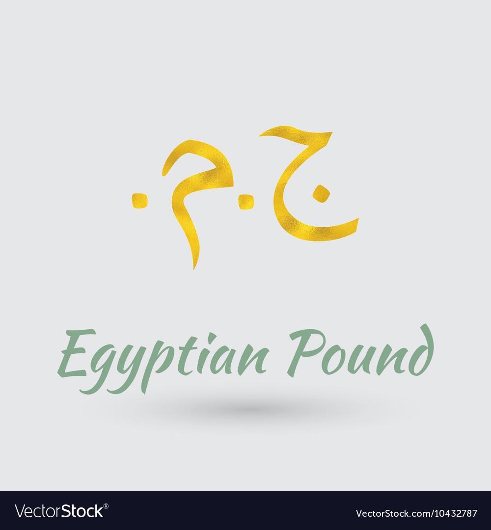Golden symbol og egyptian pound royalty free vector image golden symbol og egyptian pound vector image biocorpaavc Images