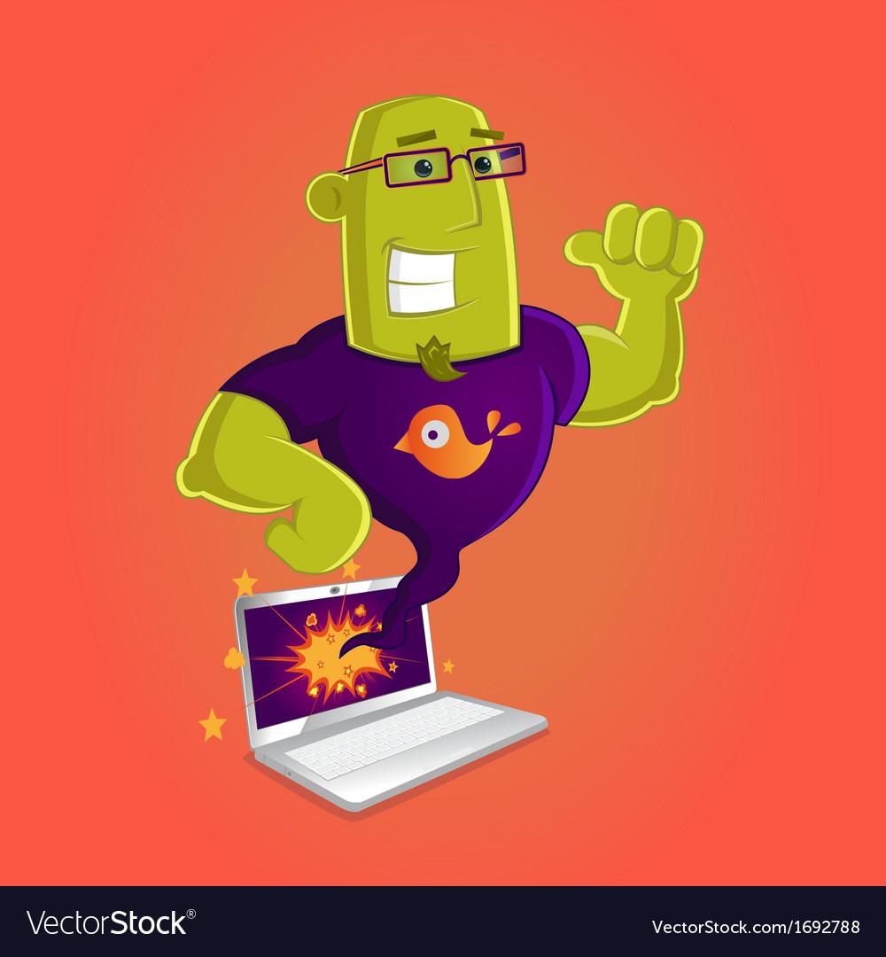 Laptop Genius vector image