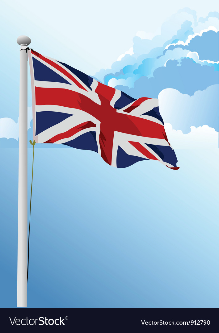 British Flag Royalty Free Vector Image - VectorStock
