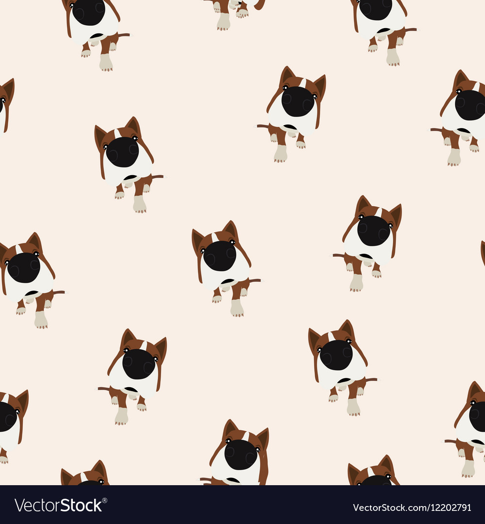 Dog with big head and nose Seamless vector image