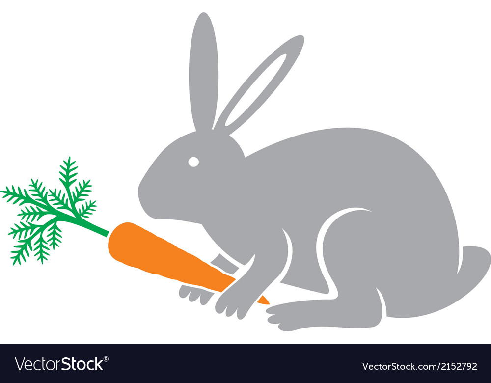 Rabbit holding a carrot vector image