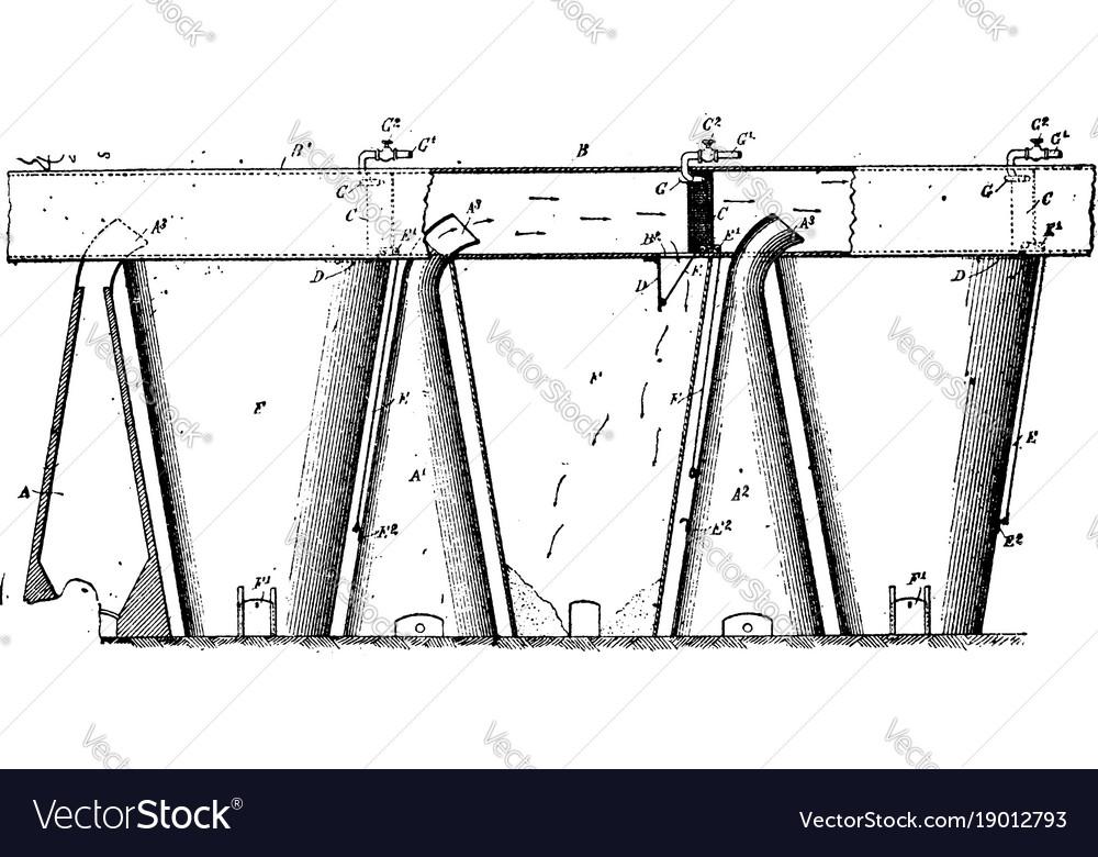 Furnace condenser vintage vector image