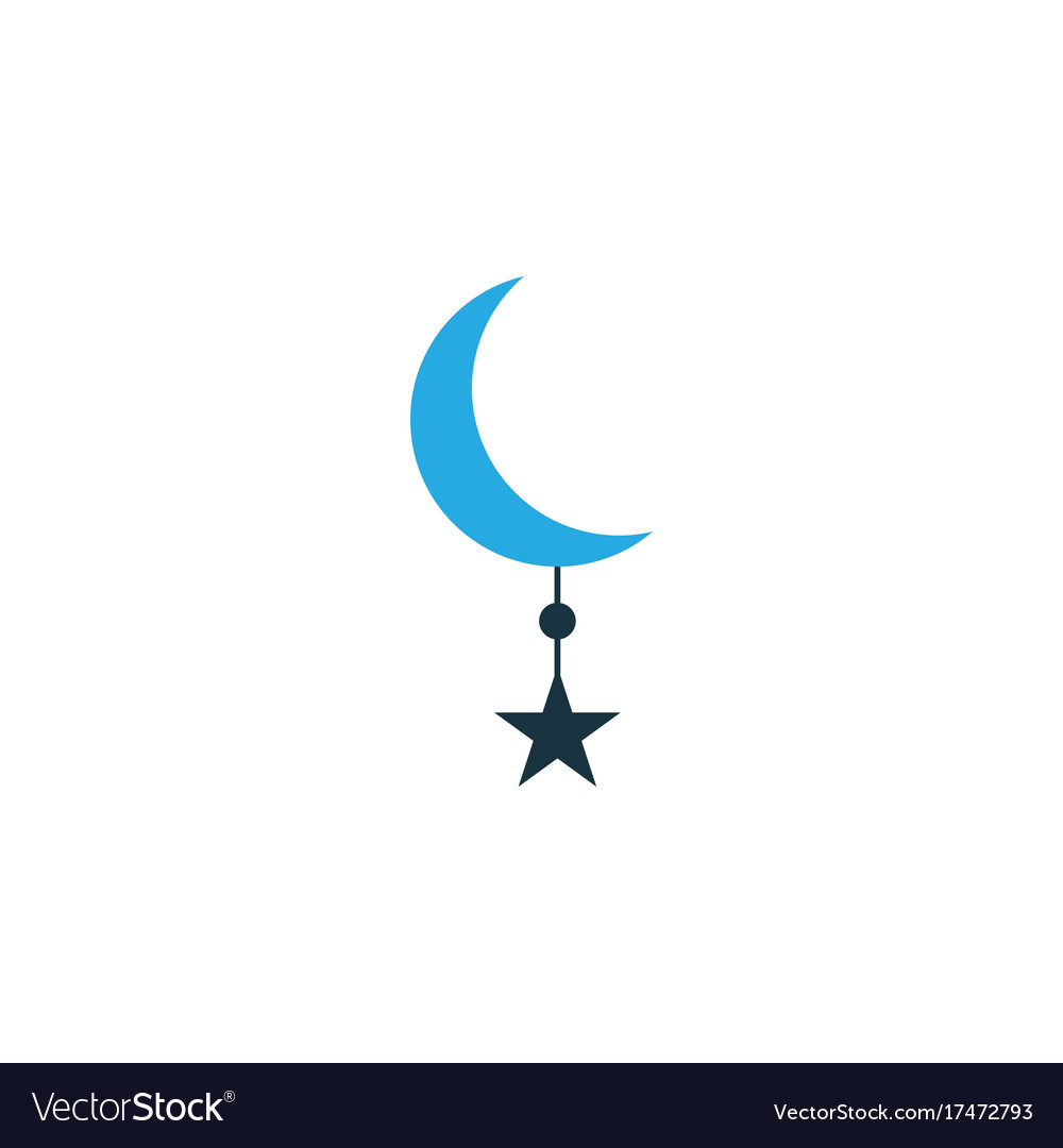 Star colorful icon symbol premium quality vector image