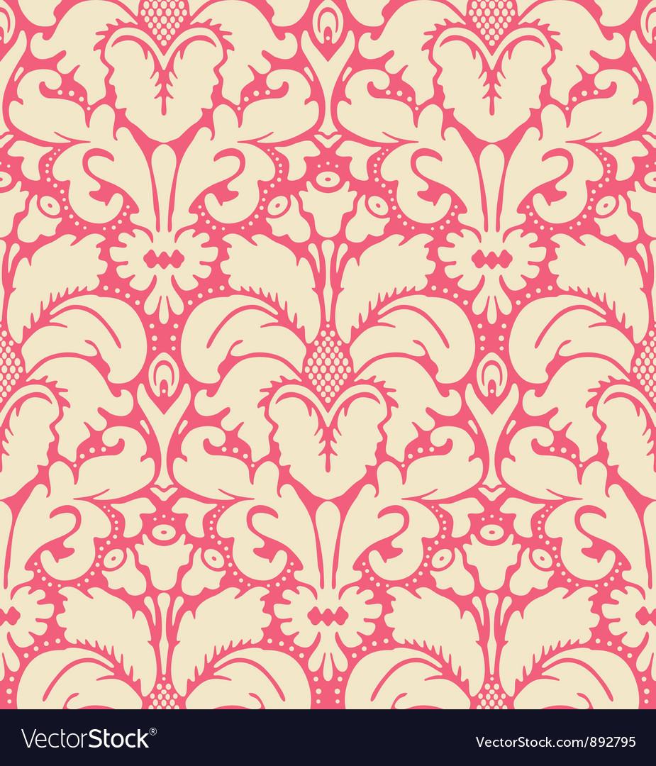 Baroque style damask background vector image