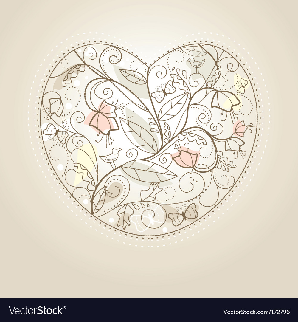 Cute Valentine's day card vector image