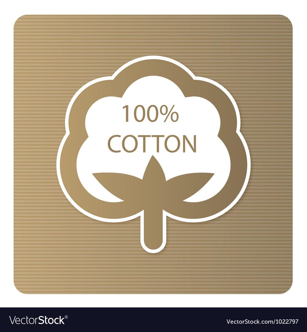 Cotton label vector image