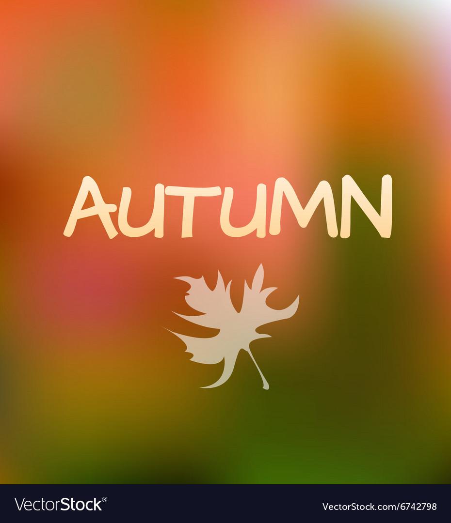 Autumn Season Background design