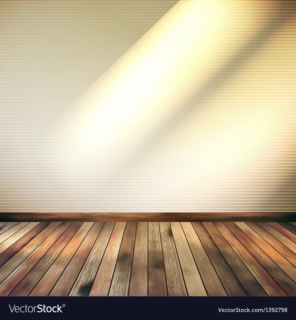 Empty Beige lines wall room EPS 10 vector image