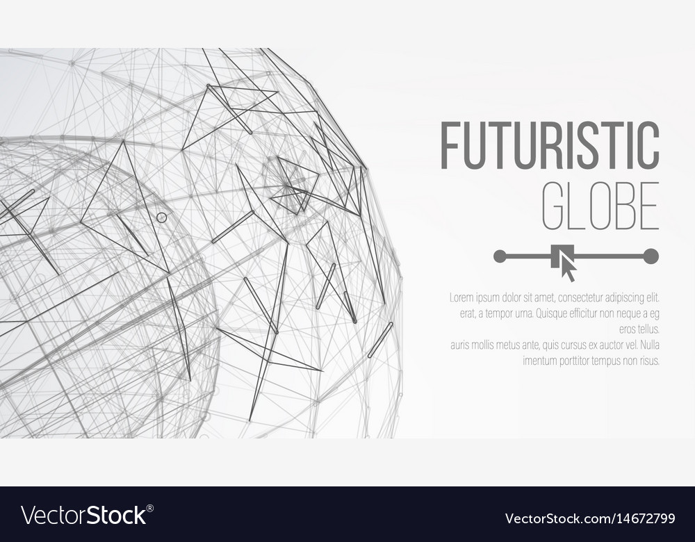 3d planet concept abstract technology background vector image