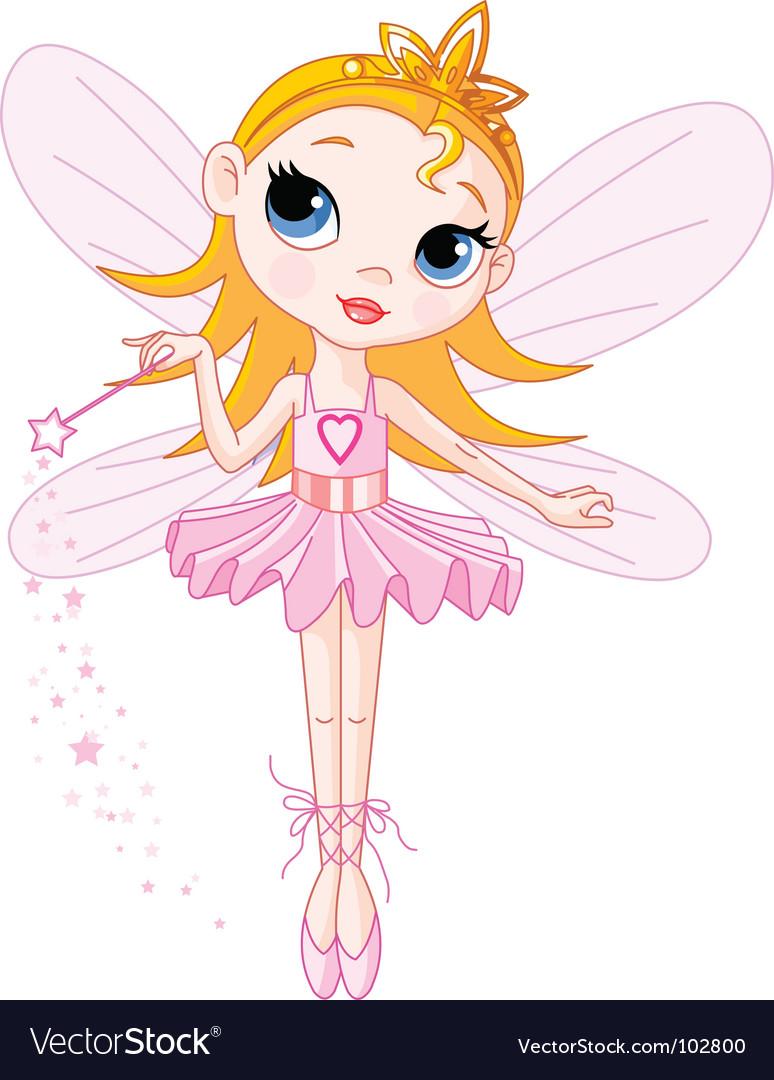 Cute fairy vector image