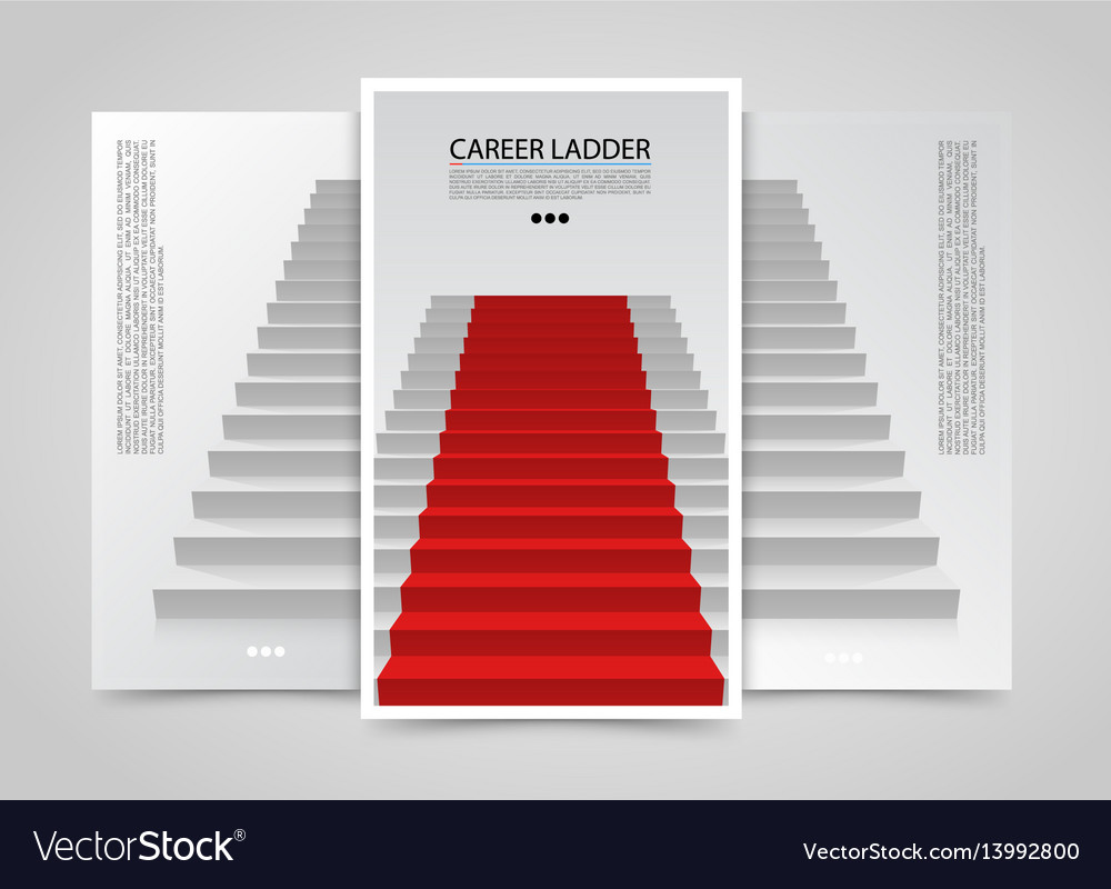 Modern vertical banners podium with red carpet vector image
