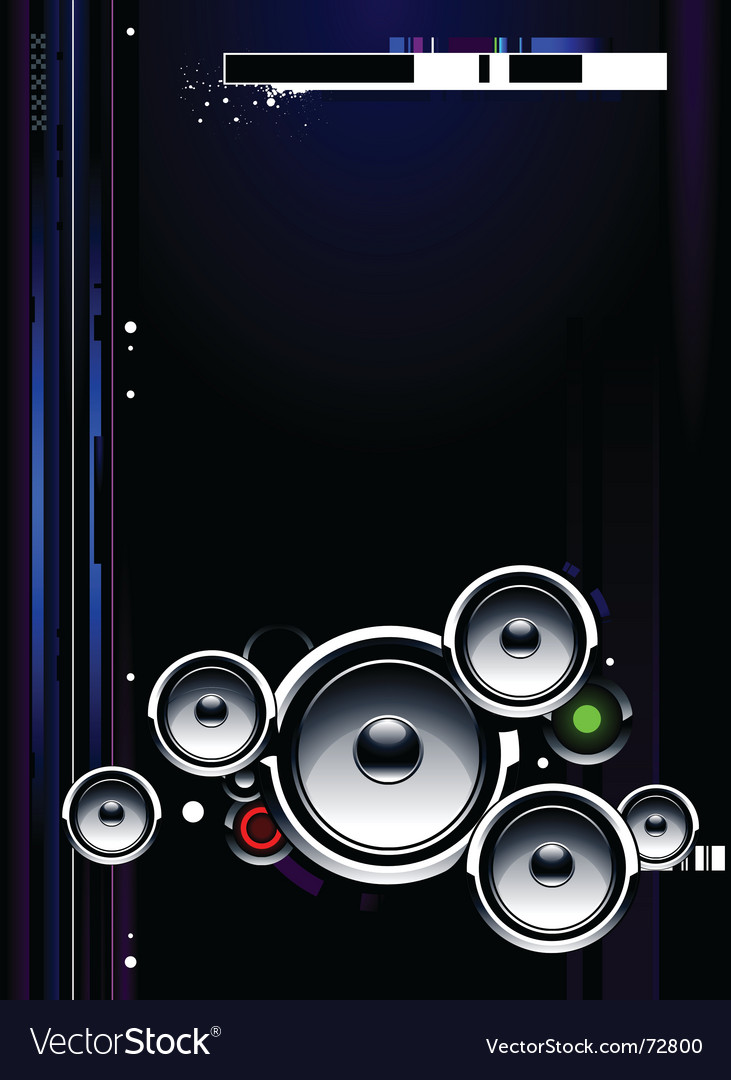 Speakers futuristic vector image