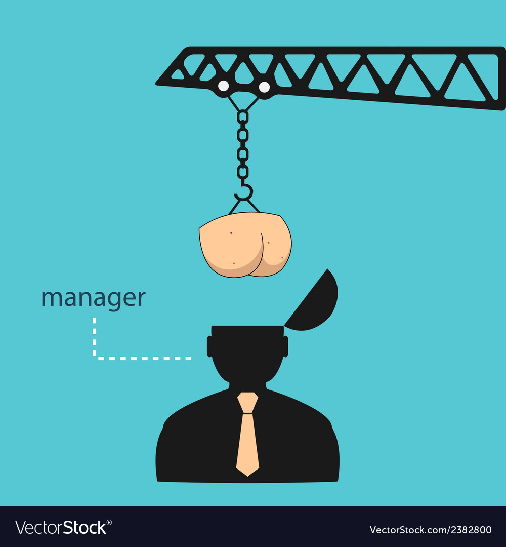 Transplant ass manager head eps vector image