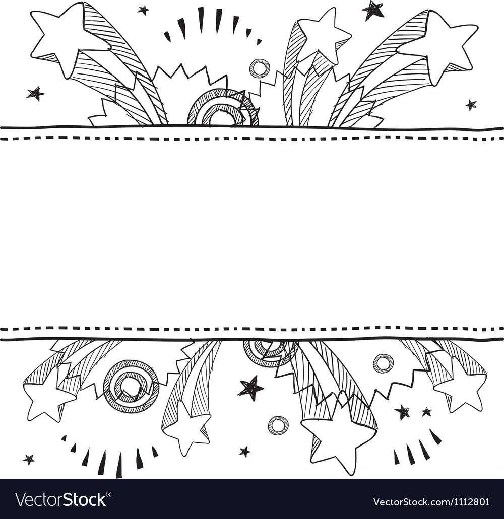 Doodle pop label horizontal vector image