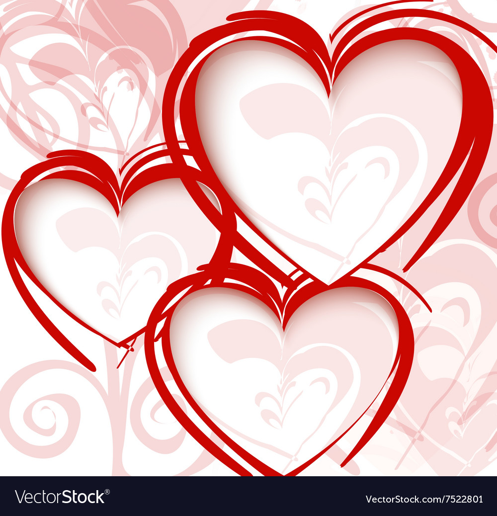 Gift card Valentine Day vector image