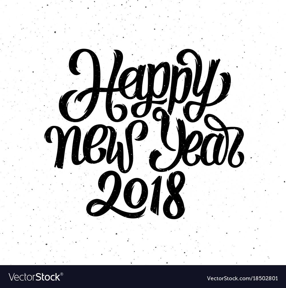 Happy new year 2018 card season greetings vector image kristyandbryce Choice Image