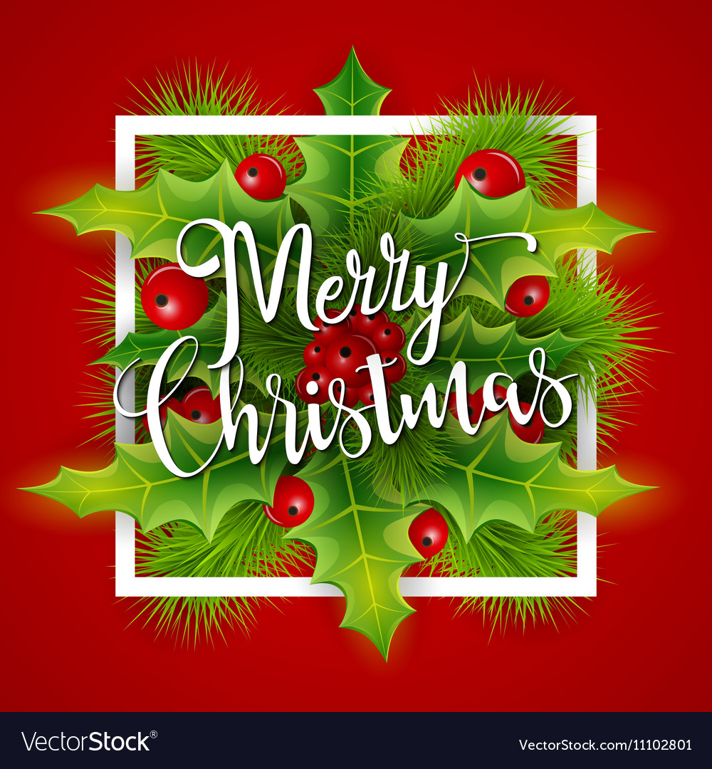Merry Christmas Greetings Card Royalty Free Vector Image