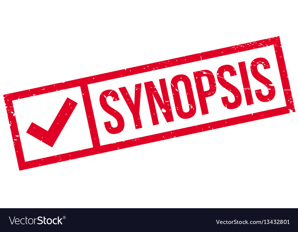 Synopsis rubber stamp vector image