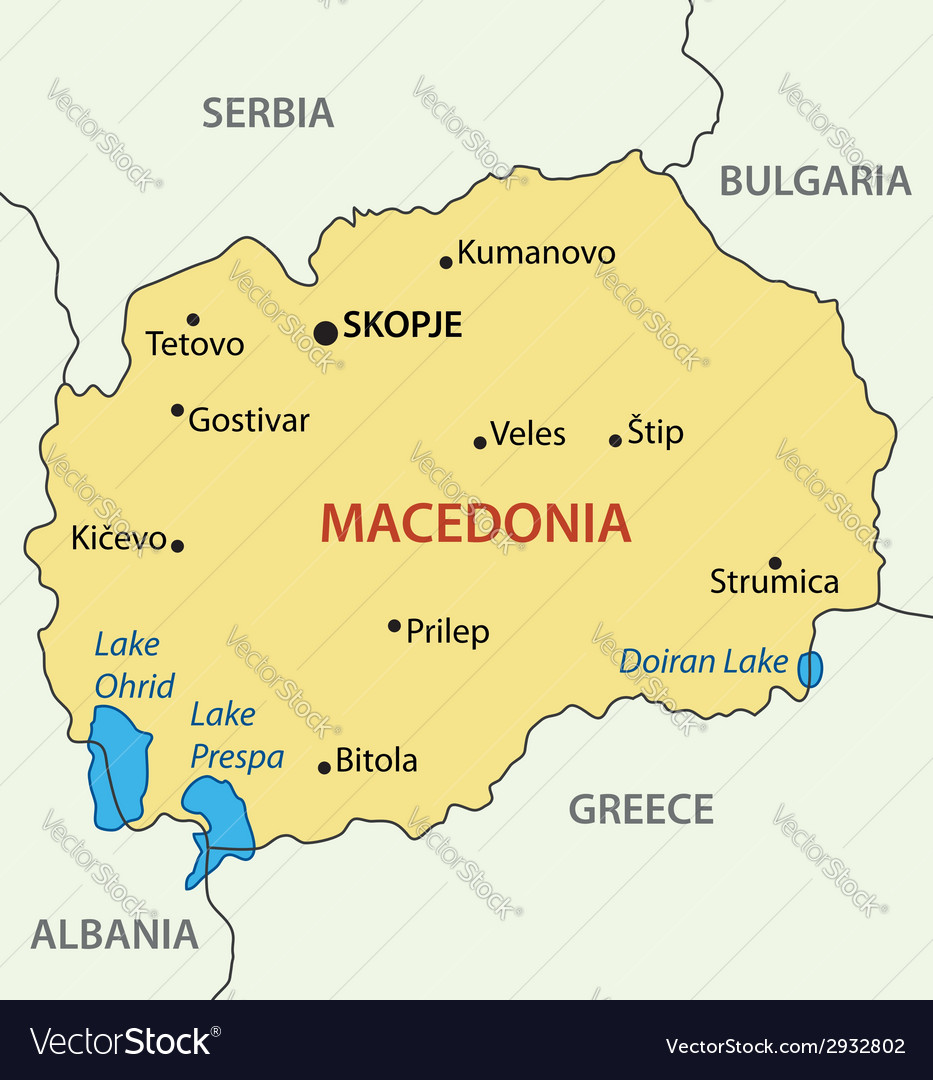 Republic of Macedonia map Royalty Free Vector Image