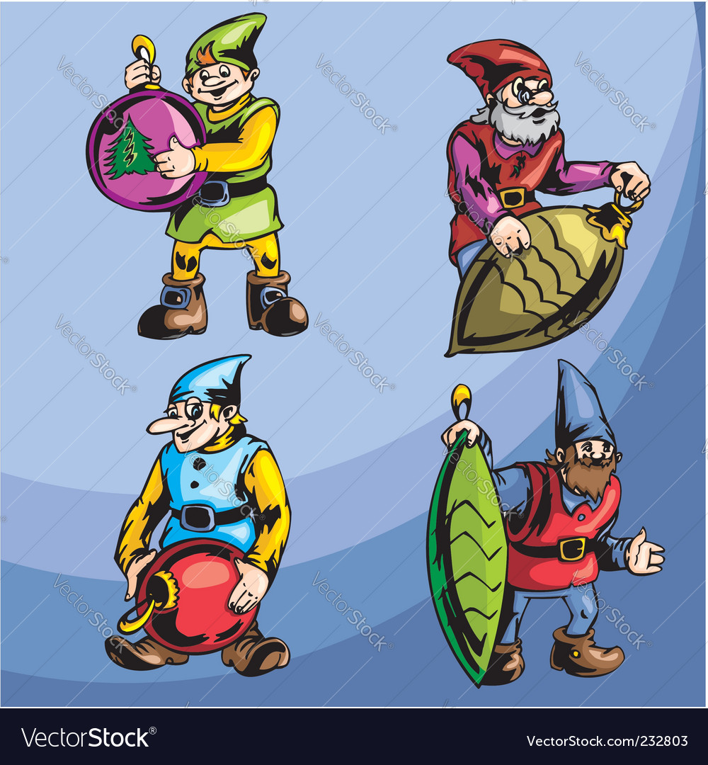 Gnomes vector image