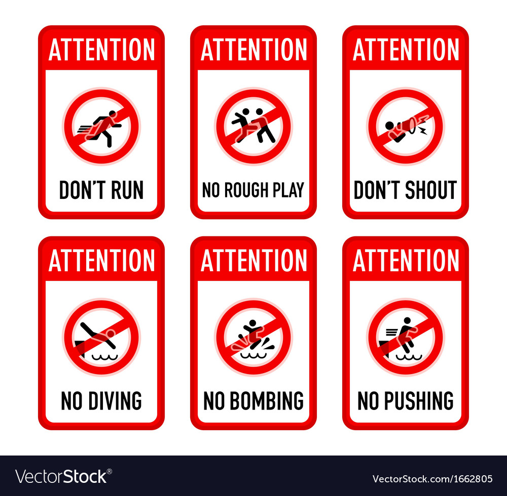 Pool signs set I vector image