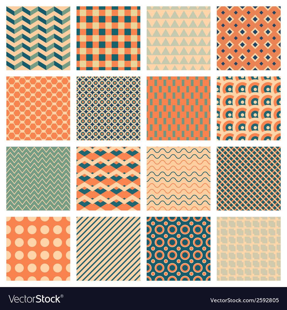 Marvelous Simple Geometric Patterns Vector Image