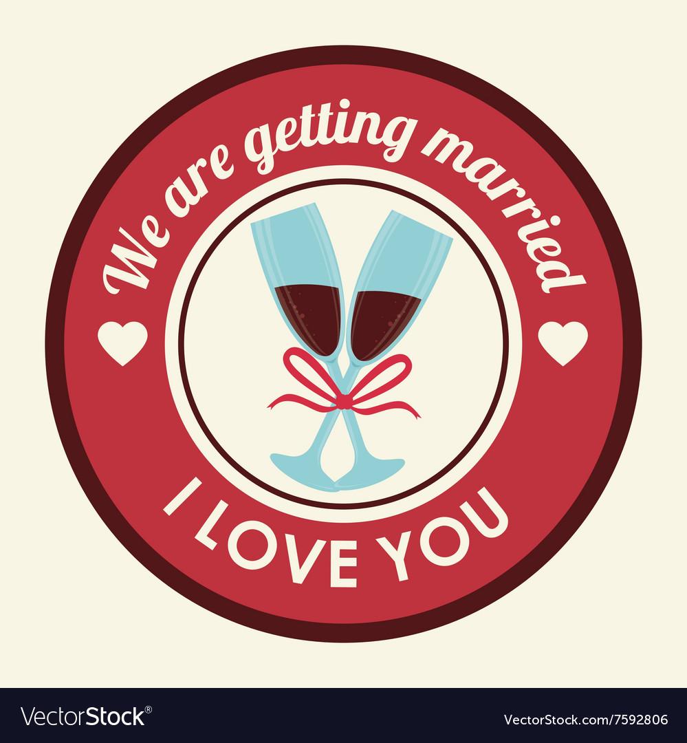 Wedding invitation design Royalty Free Vector Image