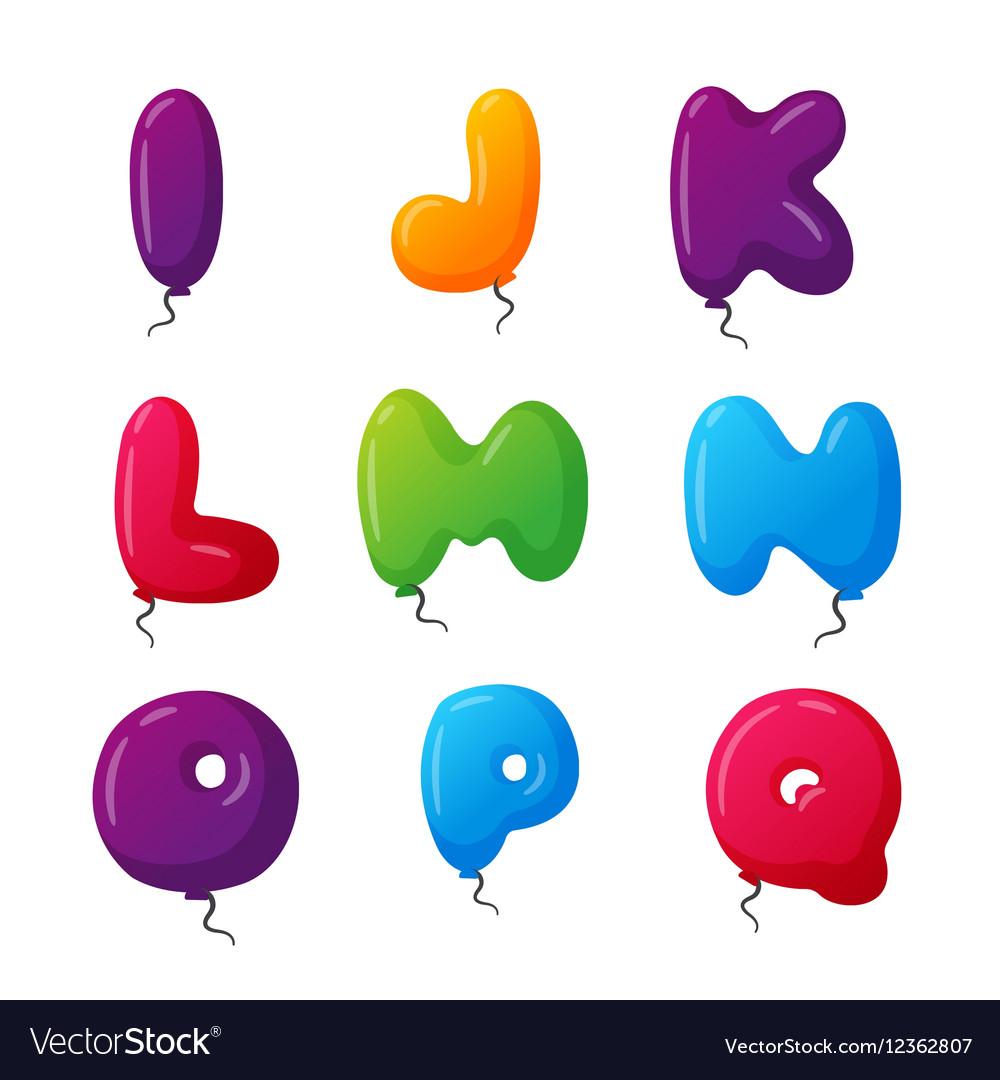 Balloon alphabet set vector image