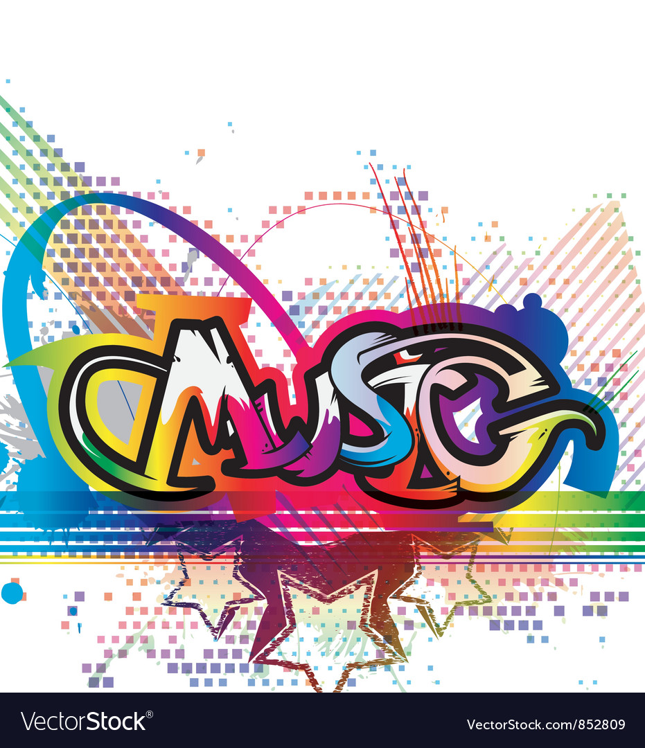 Colorful Music Background Royalty Free Vector Image