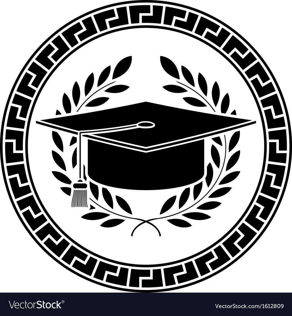 Square academic cap vector image