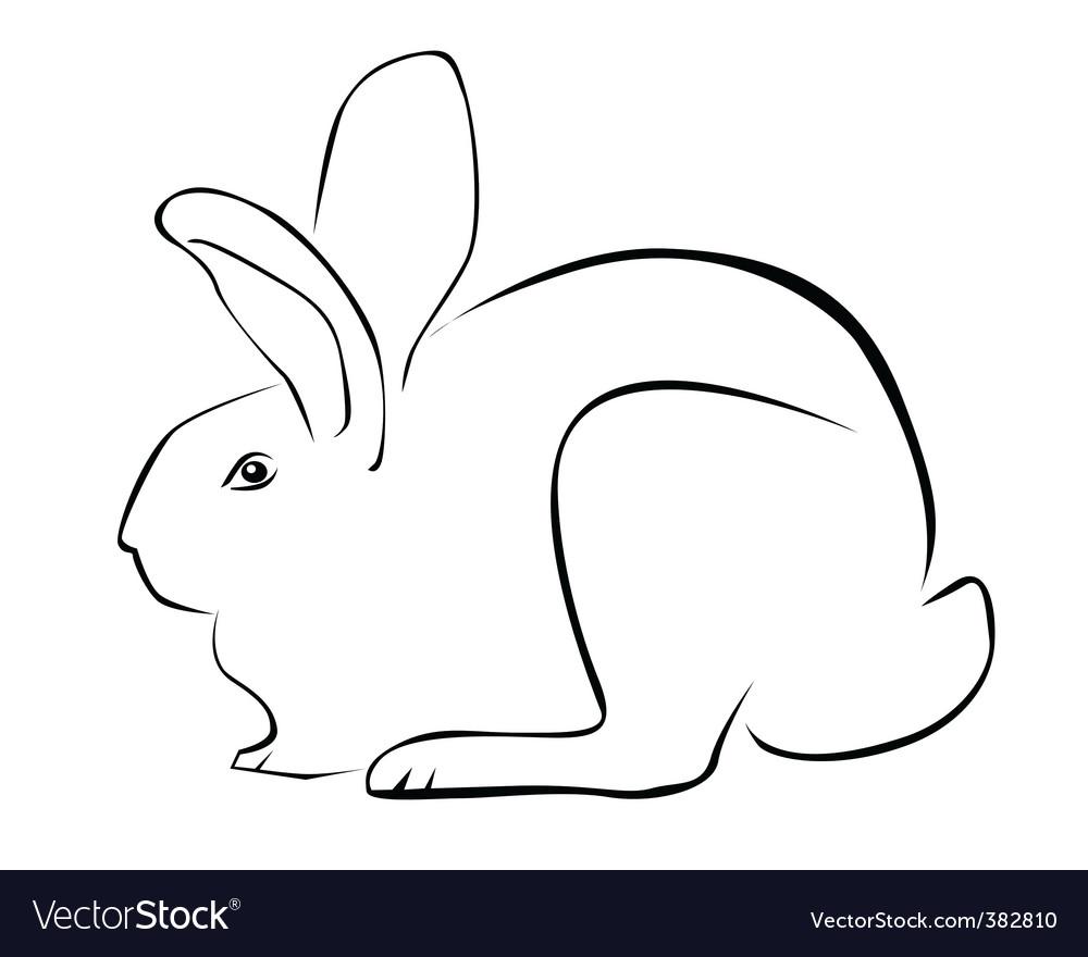 Tracing of a rabbit Royalty Free Vector Image - VectorStock