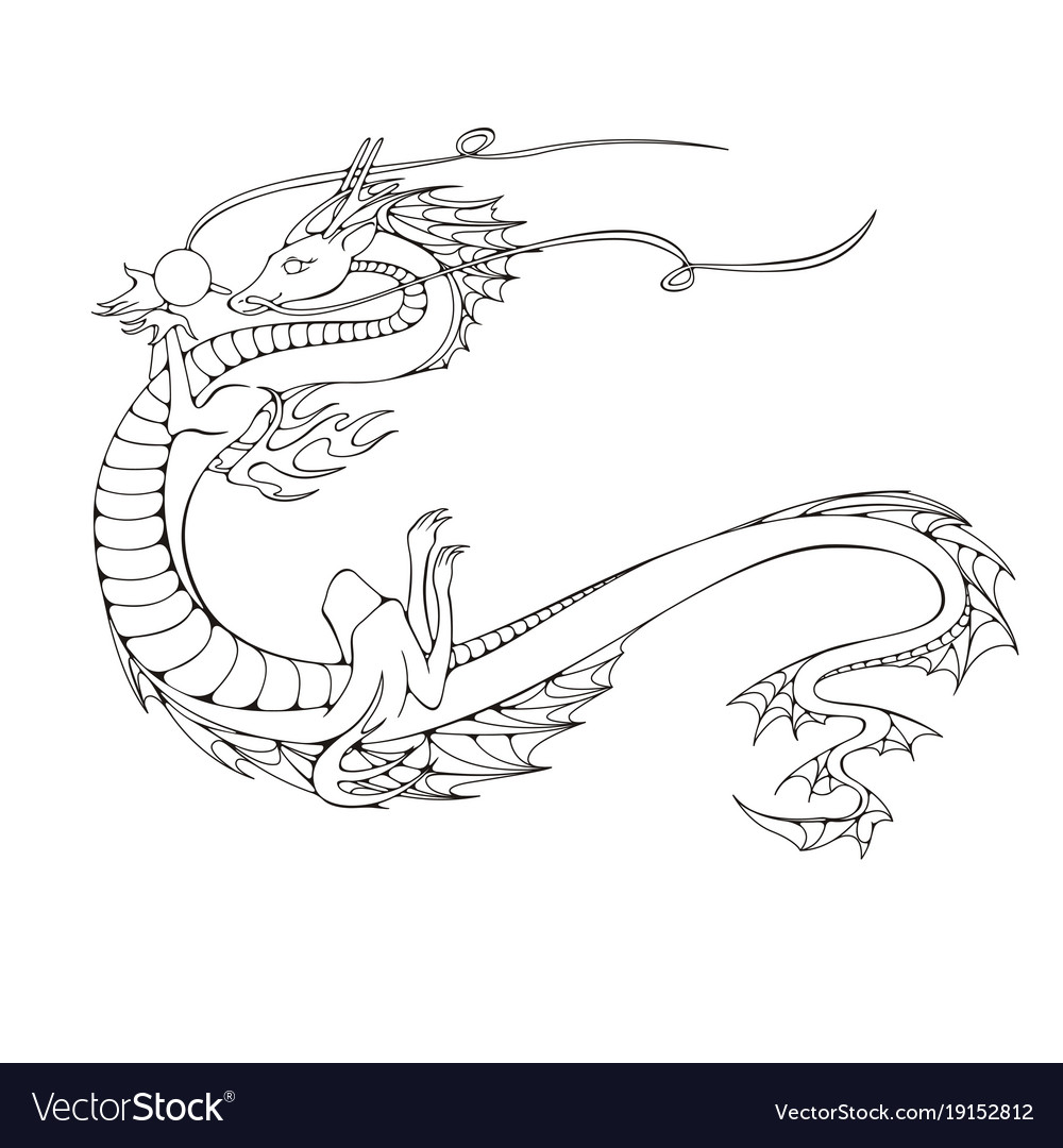 Asian dragon symbol of the 2024 year royalty free vector asian dragon symbol of the 2024 year vector image biocorpaavc Image collections