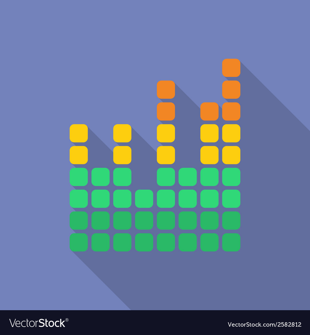 Equalizer icon Modern Flat style with a long vector image