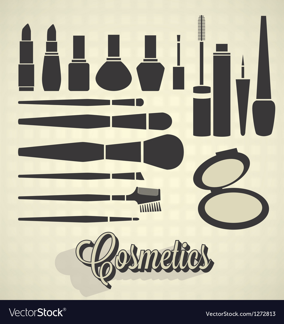Cosmetics Silhouettes vector image
