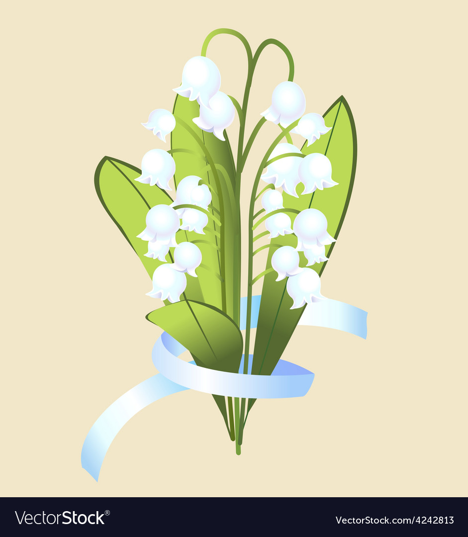 A bouquet of flowers of lily with ribbon vector image izmirmasajfo