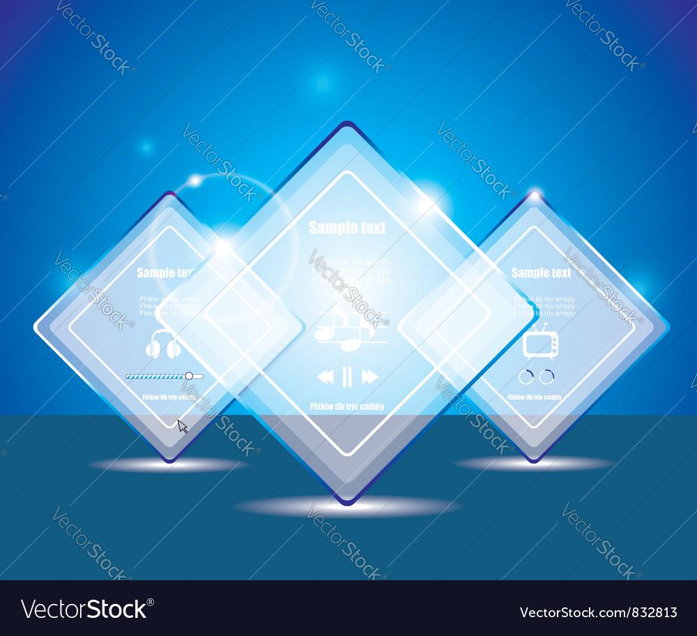 Glass transparent web box vector image