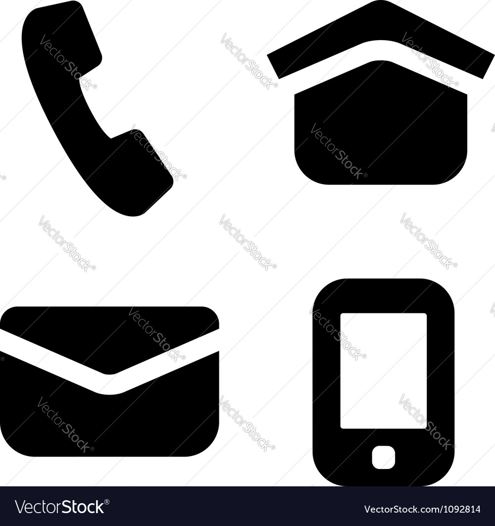 Contact information signs vector image