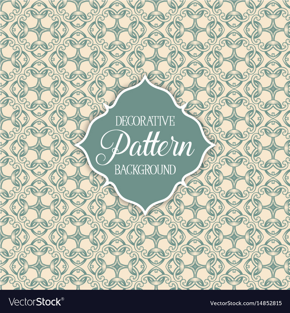 Decorative patterned background vector image