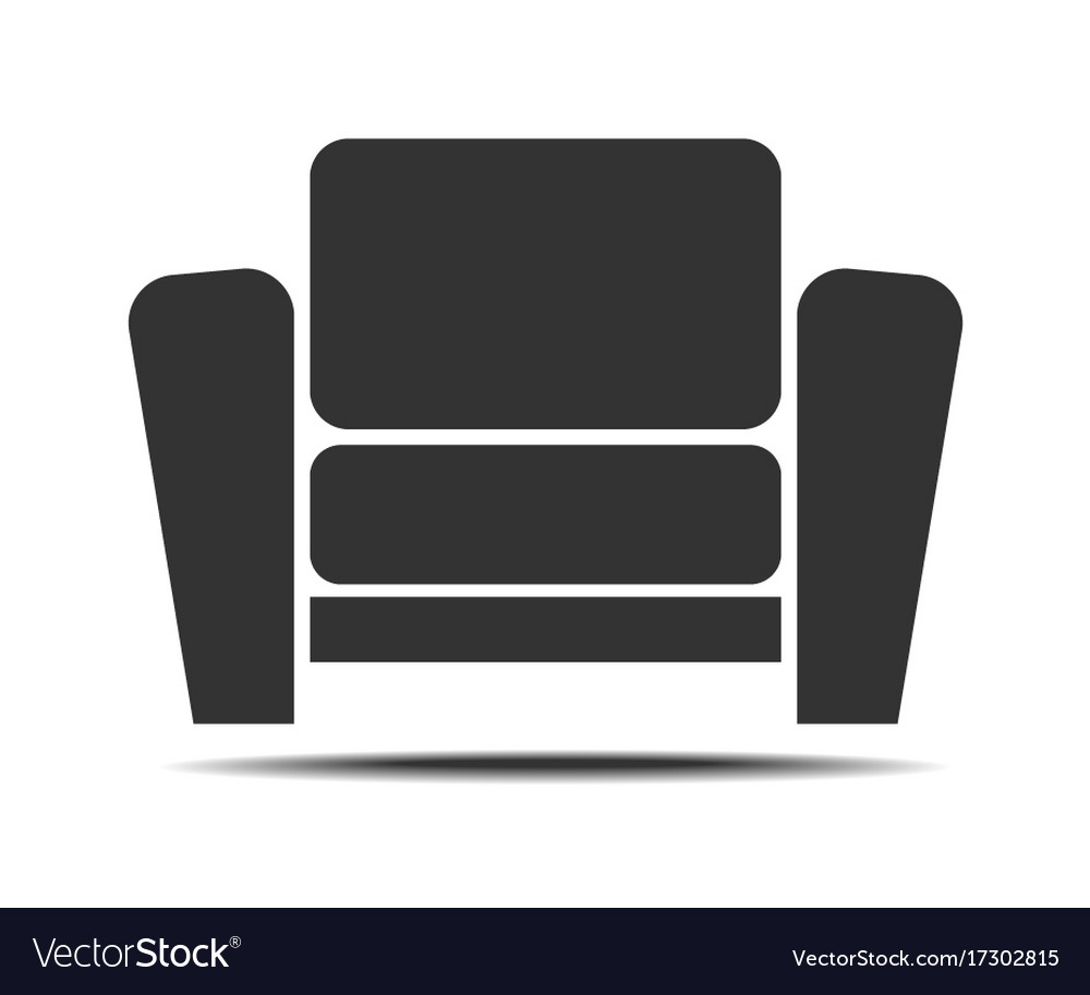 Living room armchair icon vector image