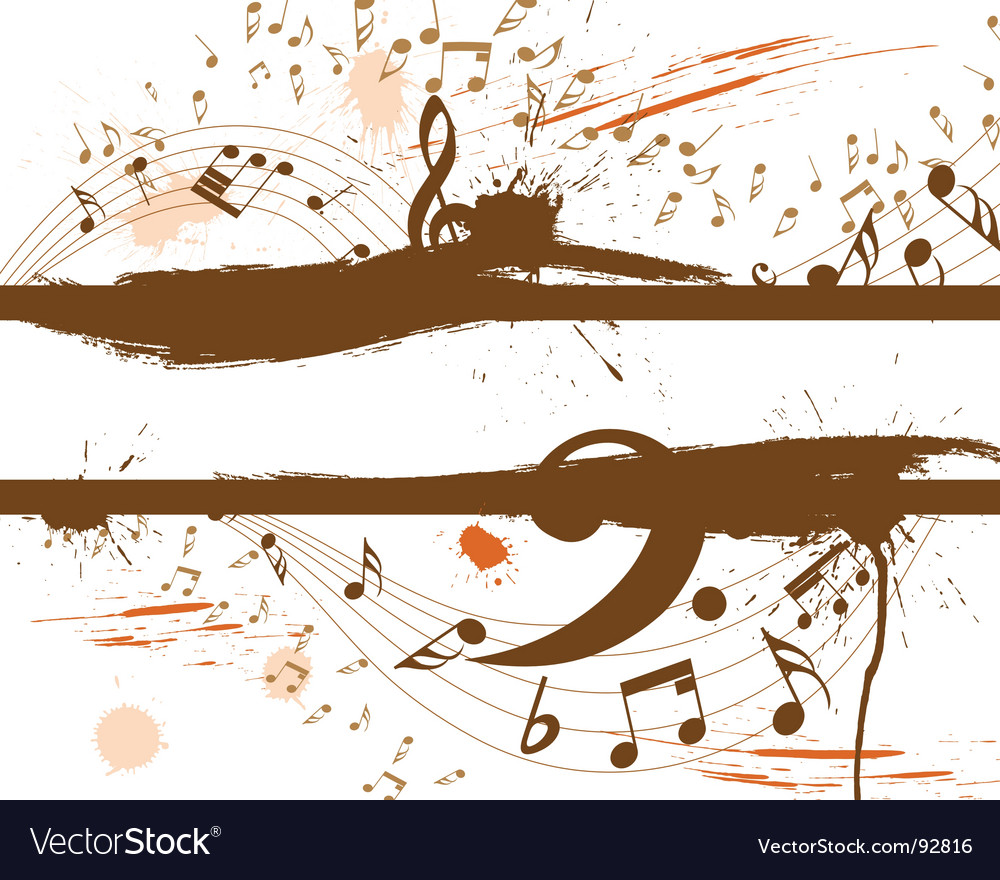 Musical grunge vector image